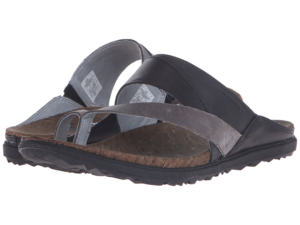 Merrell - Around Town Thong (Black) Women's Shoes