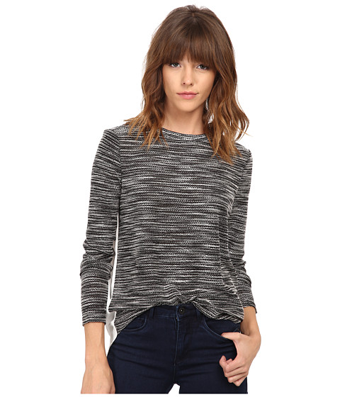 ONLY - Chole Long Sleeve Mix Top (Black) Women's Clothing