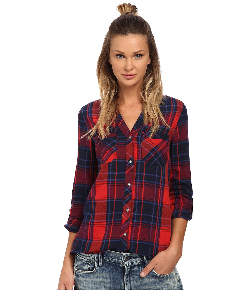 ONLY - Lamponi 3/4 Sleeve Woven Shirt (True Red) Women