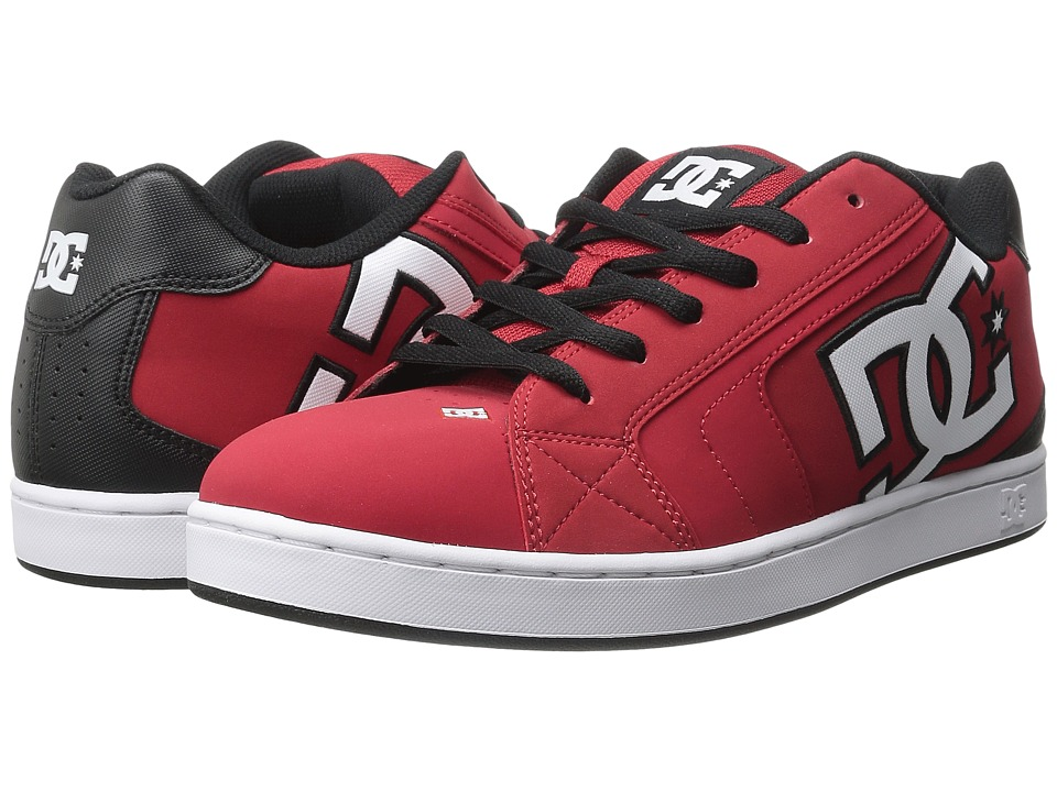 DC - Net (Red/Black/White) Men's Skate Shoes