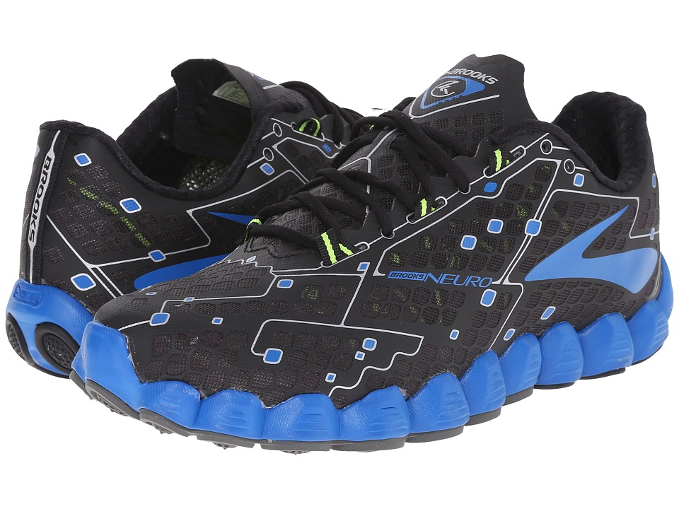 Brooks - Neuro (Metallic Charcoal/Electric Blue Lemonade/Nightlife) Men's Running Shoes