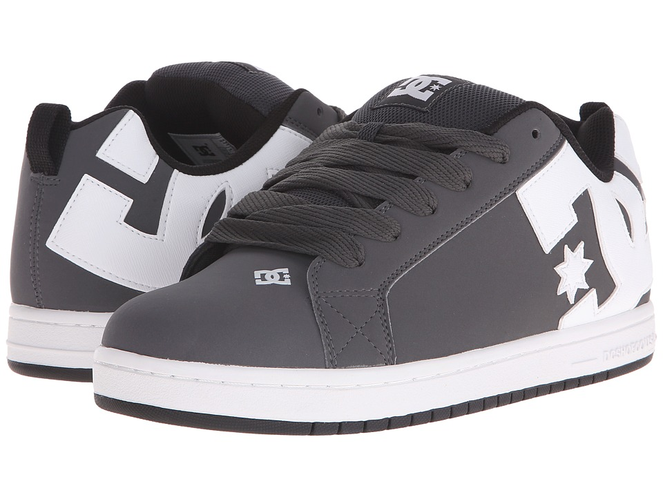 DC - Court Graffik (Grey/White) Men's Skate Shoes