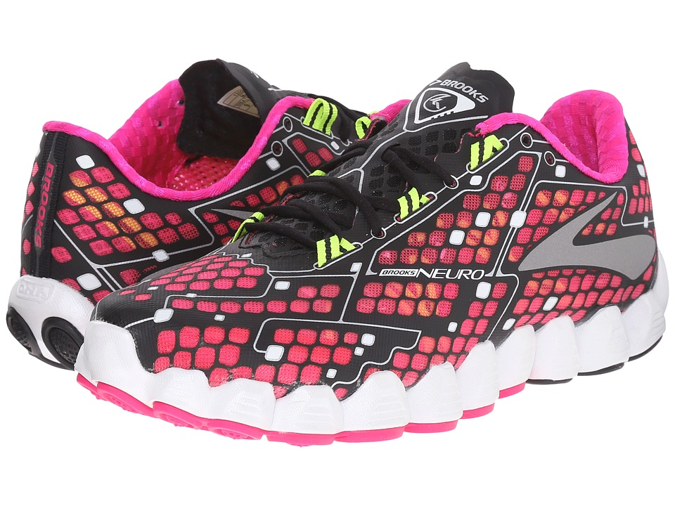 Brooks - Neuro (Pink Glo/Black/Nightlife) Women's Running Shoes