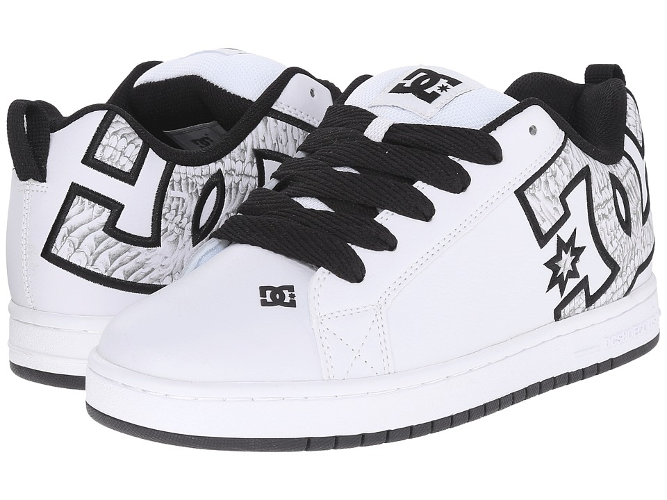 DC - Court Graffik SE (White/White Print) Men's Skate Shoes