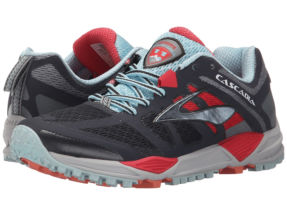 Brooks - Cascadia 11 (Anthracite/Hibiscus/Crystal Blue) Women's Running Shoes