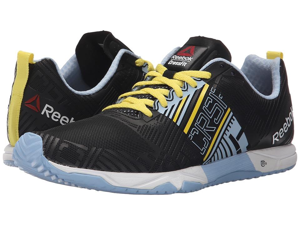 Reebok - Crossfit Sprint 2.0 (Black/Denim Glow/Stinger Yellow/White) Women's Shoes