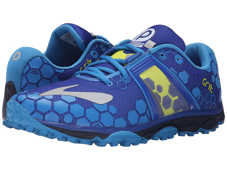 Brooks - PureGrit 4 (Surf The Web/Brilliant Blue/Lime Punch) Men's Running Shoes
