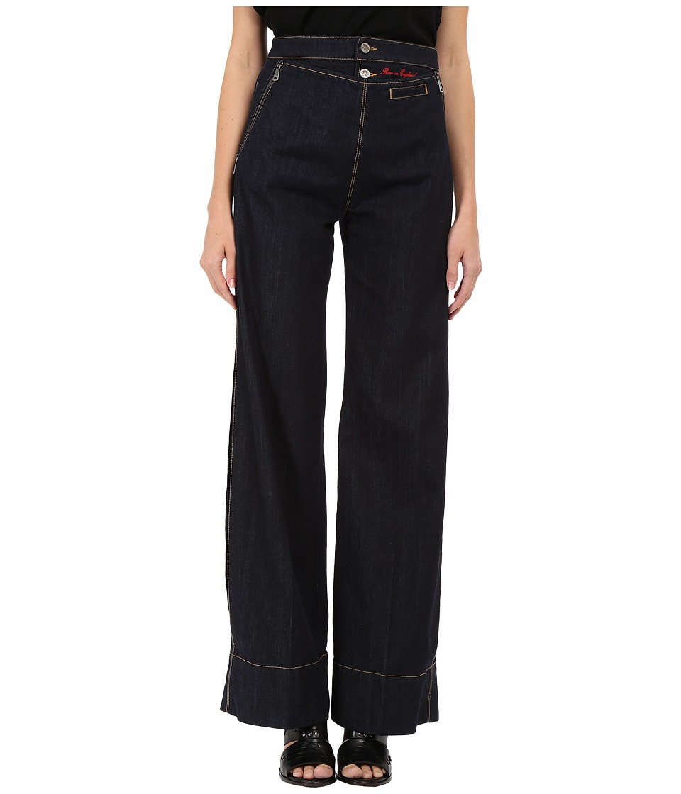 Vivienne Westwood - Vader Wide Pants (Blue Denim) Women's Casual Pants