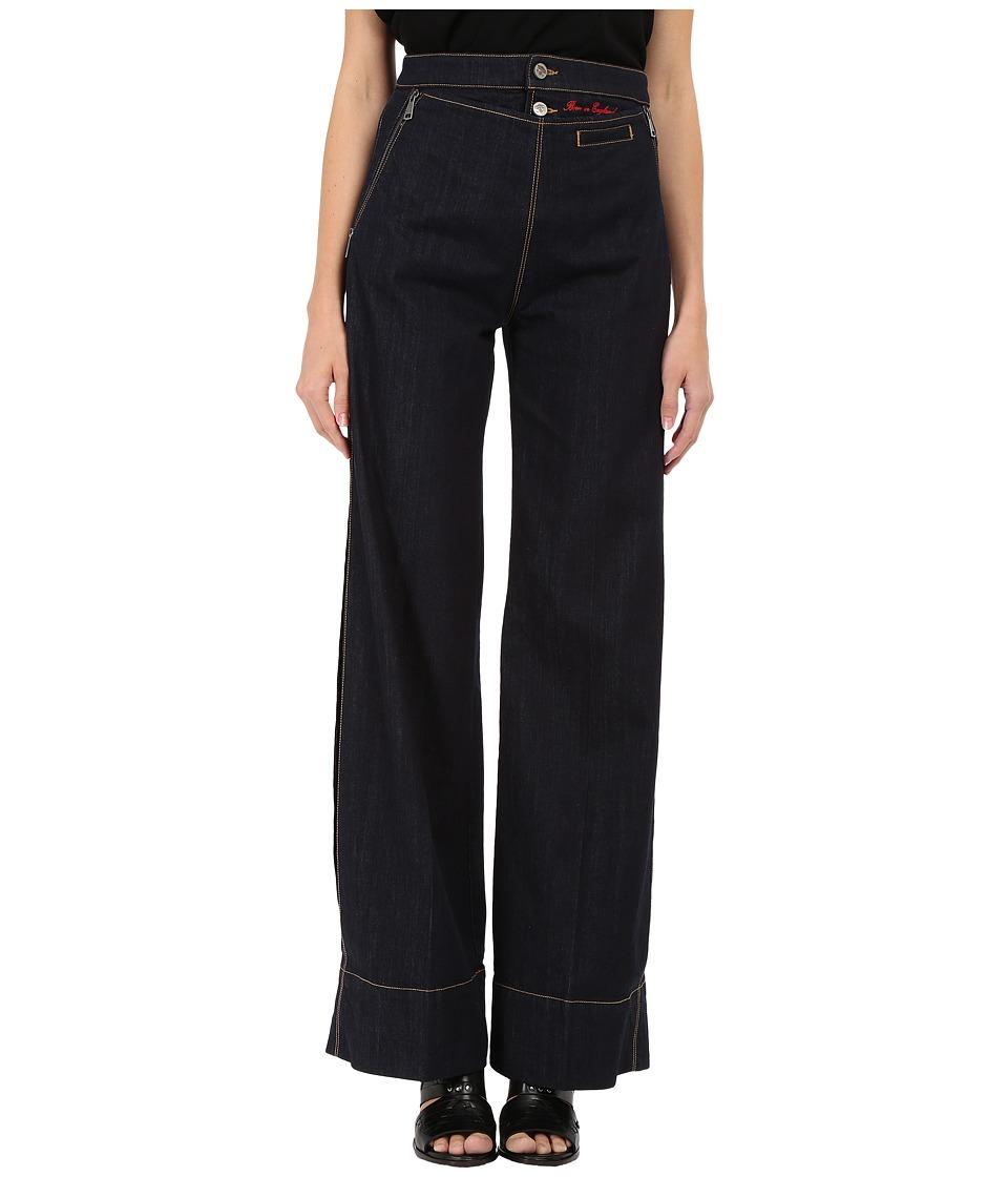Vivienne Westwood - Vader Wide Pants (Blue Denim) Women's Casual Pants