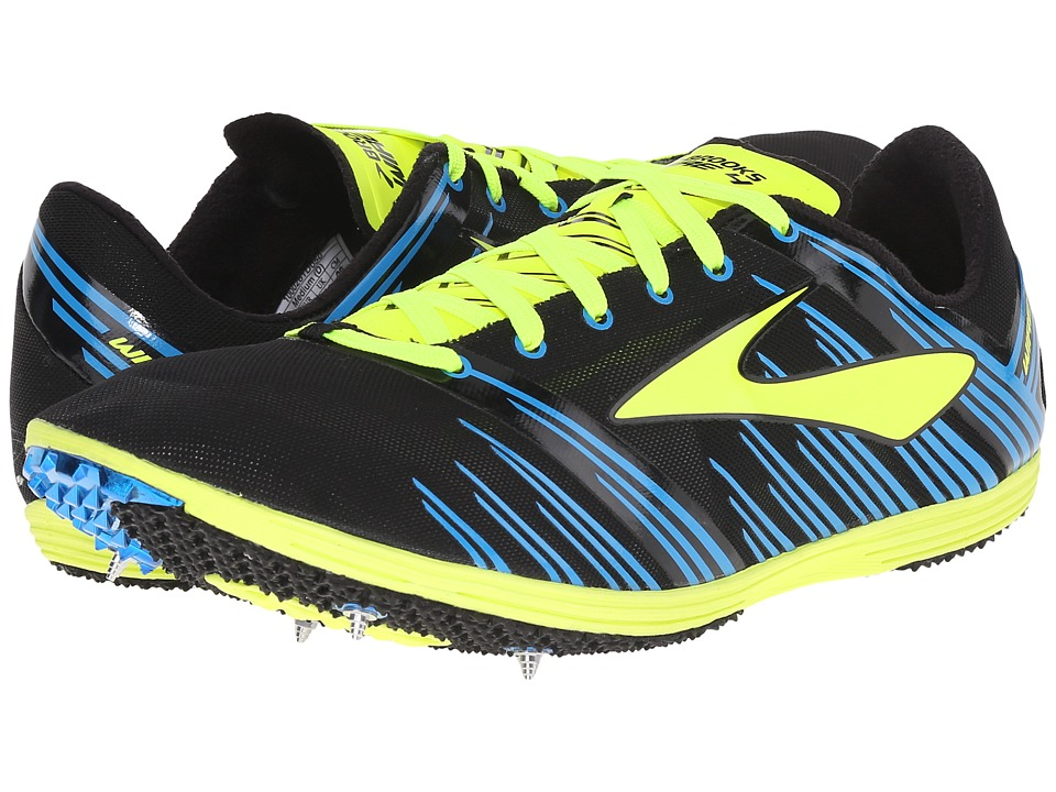 Brooks - The Wire 4 (Black/Nightlife/Brooks Brite Blue) Running Shoes