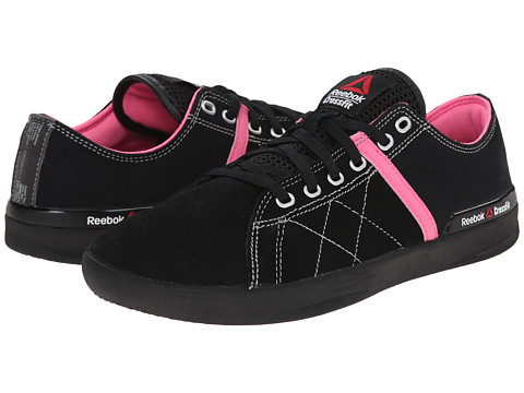 Reebok - Crossfit Lite Lo TR Canvas (Black/Electro Pink) Women