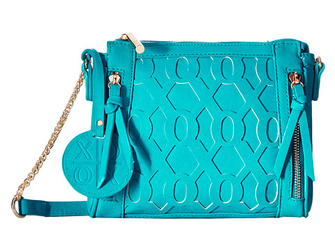 XOXO - Overlay Crossbody (Teal) Cross Body Handbags