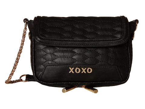 XOXO - Quilted Crossbody (Black) Cross Body Handbags