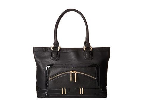 XOXO - Mixed Media Tote (Black) Tote Handbags