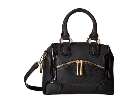 XOXO - Mixed Media Satchel (Black) Satchel Handbags
