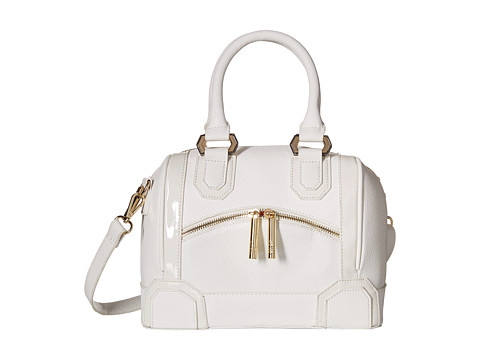 XOXO - Mixed Media Satchel (White) Satchel Handbags