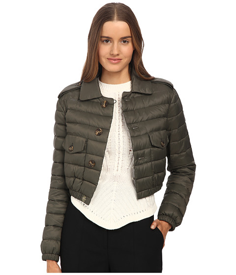 RED VALENTINO - Matt, Light Nylon Jacket (Militare) Women