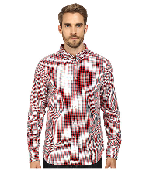 J.A.C.H.S. - One-Pocket Button Down Shirt (Red) Men