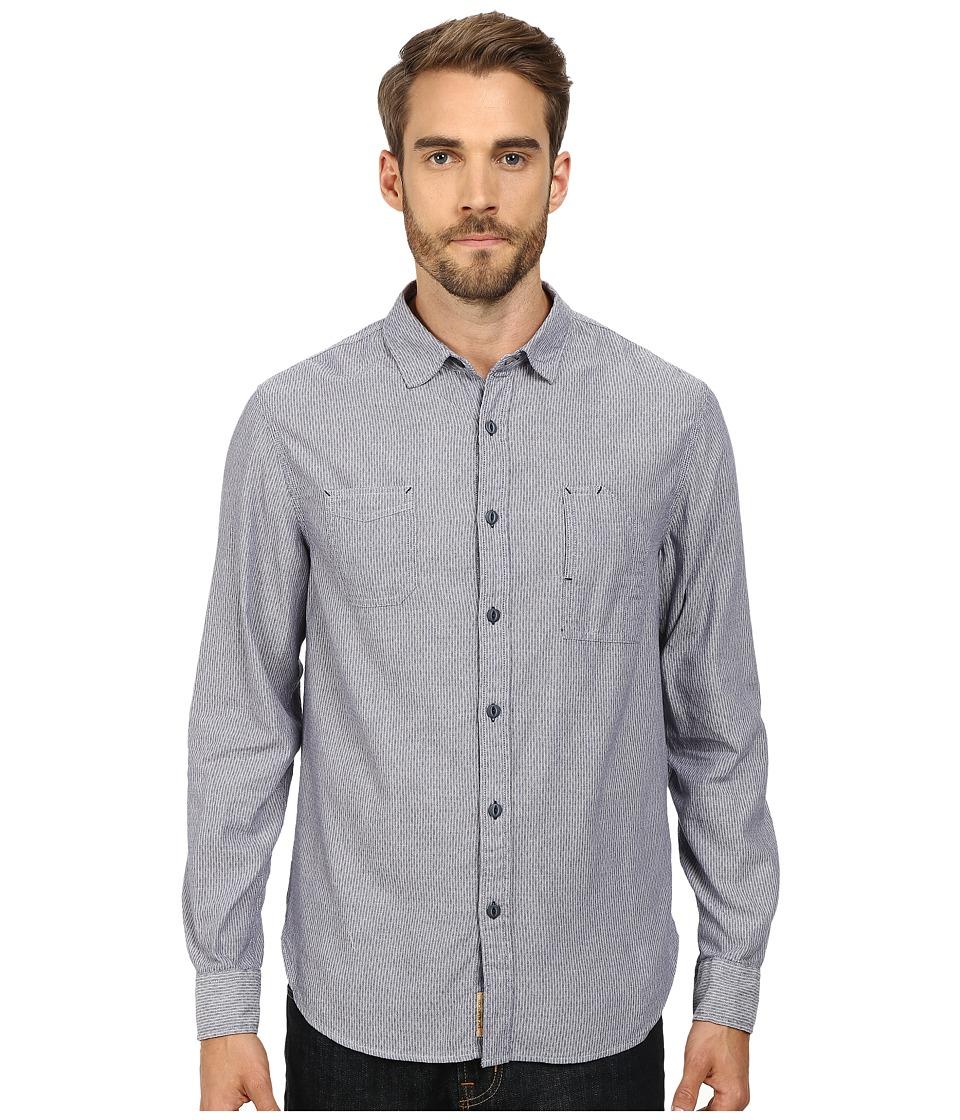 J.A.C.H.S. - Woven Button Down Shirt (Indigo) Men