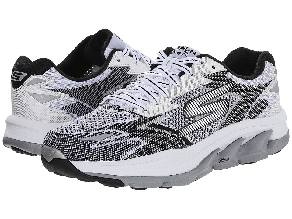 SKECHERS - Go Run Ultra - Road (White/Black) Women's Running Shoes