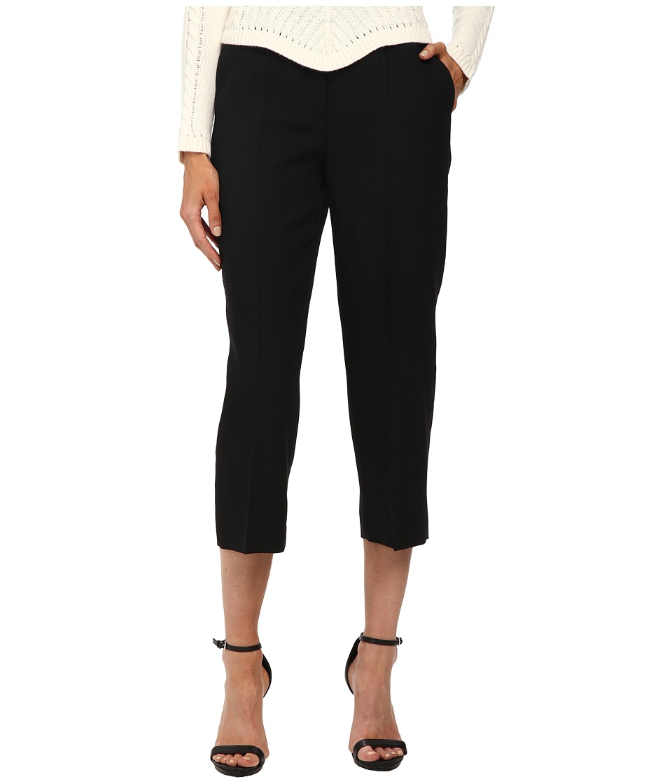 RED VALENTINO - Wool Twill Pants (Nero) Women's Casual Pants
