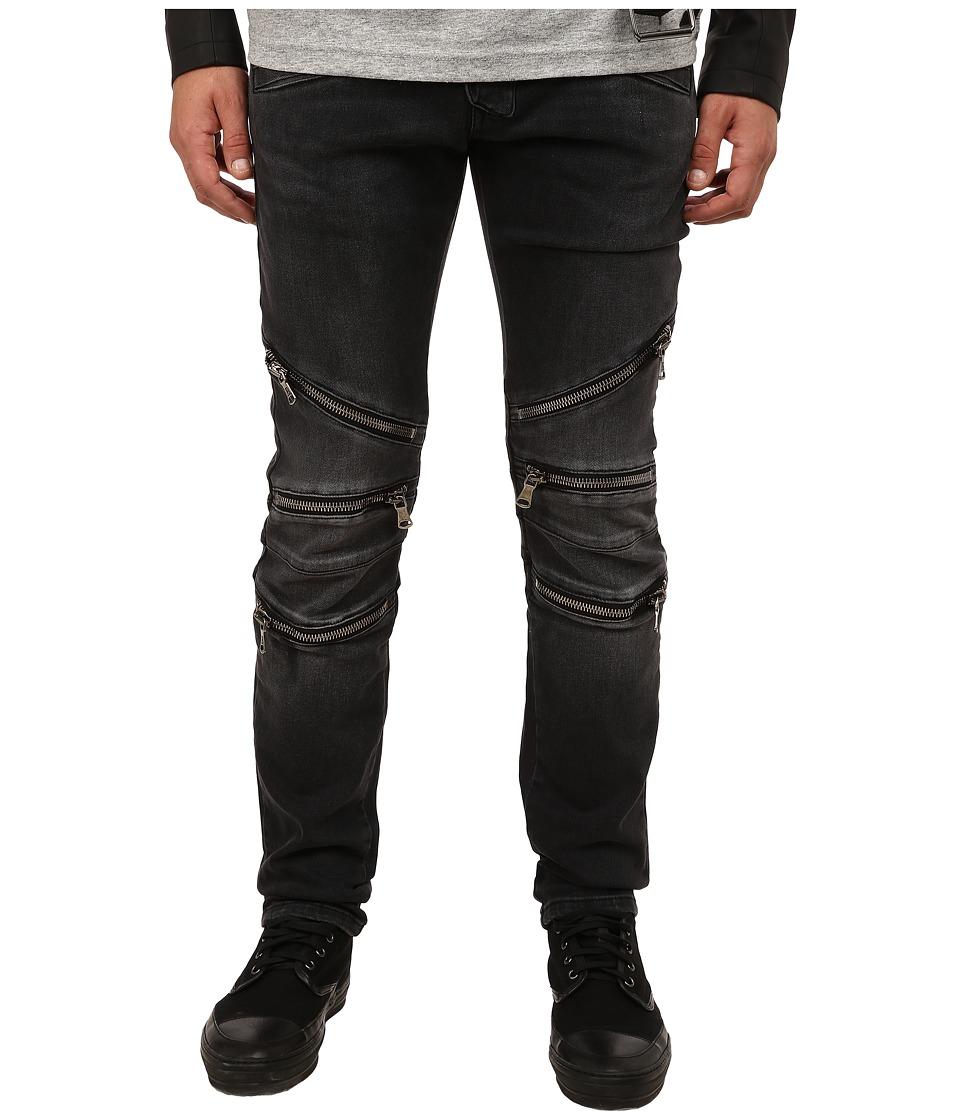 Pierre Balmain - Zipper Jeans (Black) Men's Jeans