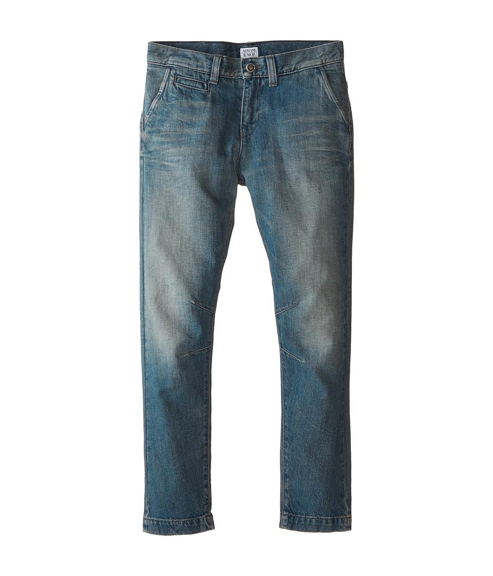 Armani Junior - Light Wash Fashion Denim w/ Low Rise (Big Kids) (Denim) Boy's Jeans