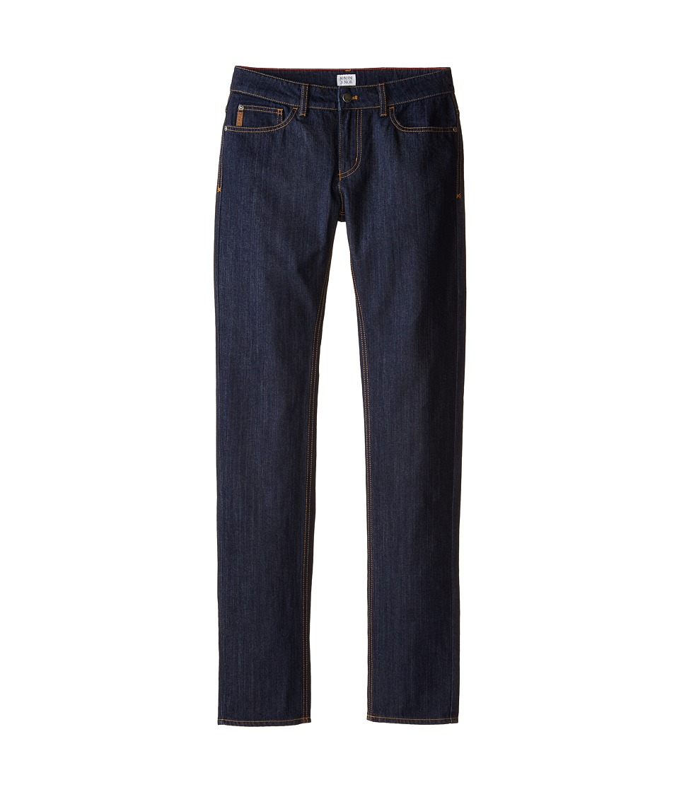 Armani Junior - Basic Dark Wash Straight Leg Denim (Big Kids) (Denim) Boy's Jeans