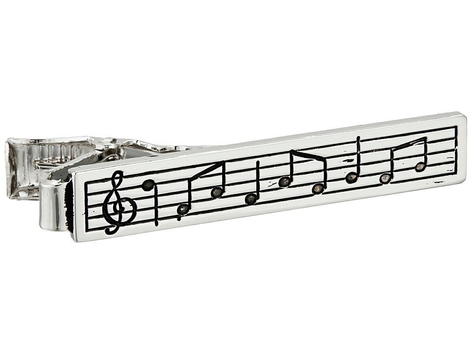 Stacy Adams - Musical Scale Tie Bar (Silver) Ties