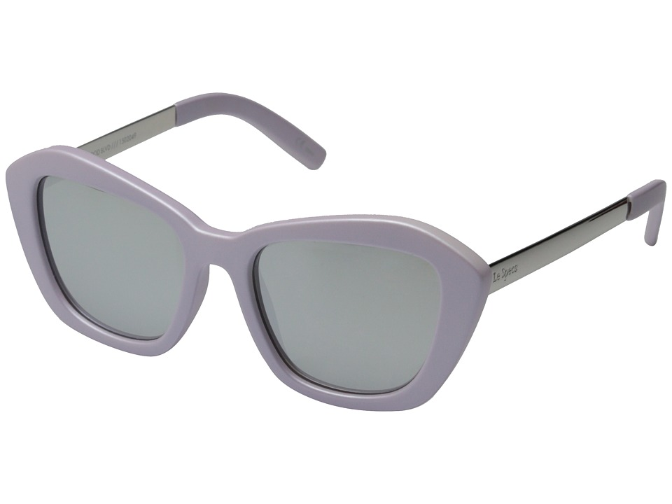 Le Specs - Hollywood Boulevard (Matte Lilac/Silver Revo Mirror) Fashion Sunglasses
