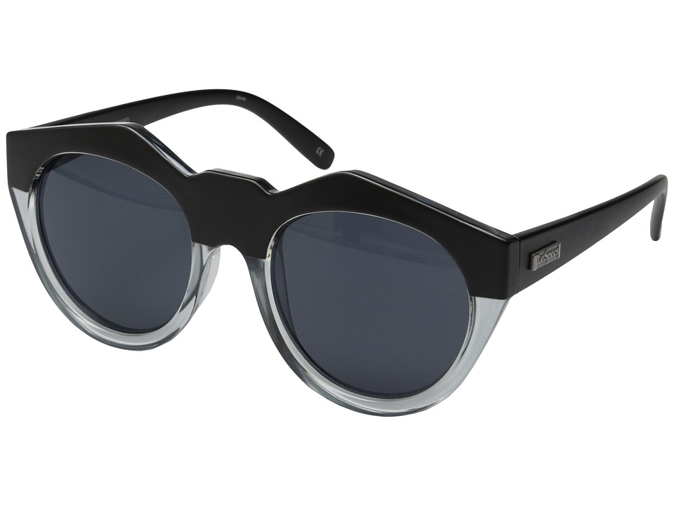 Le Specs - Neo Noir (Matte Black Clear/Smoke Mono) Fashion Sunglasses