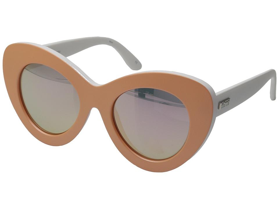 Le Specs - Go Go Go (Matte Apricot/Pink Revo Mirror) Fashion Sunglasses