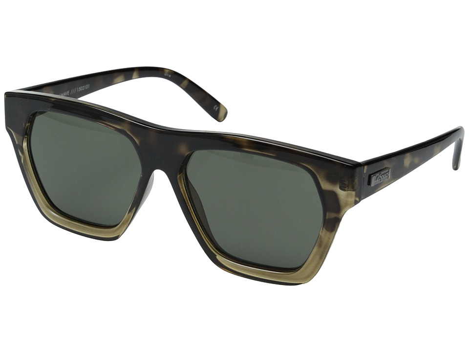 Le Specs - New Wave (Khaki Tort/Khaki Mono) Fashion Sunglasses