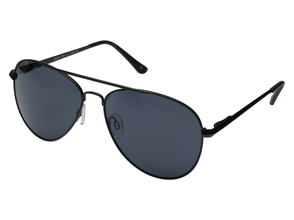 Le Specs - Drop Top (Matte Black/Smoke Mono) Fashion Sunglasses