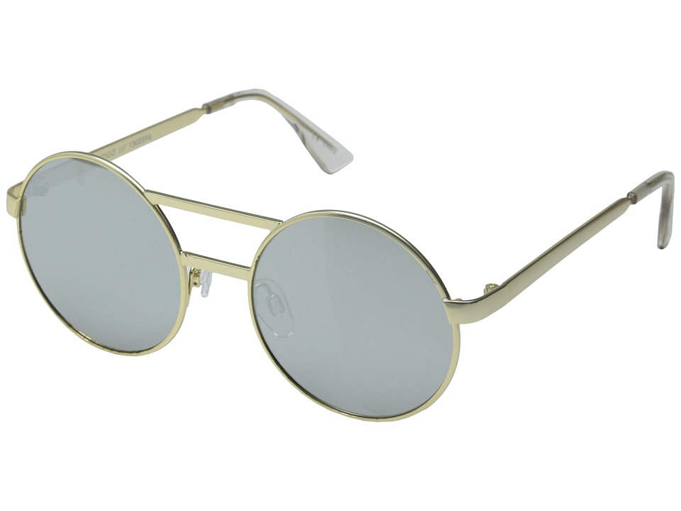 Le Specs - Vertigo (Brushed Gold/Silver Revo Mirror) Fashion Sunglasses