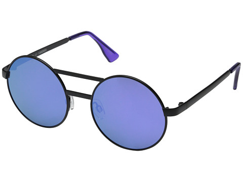 Le Specs - Vertigo (Matte Black/Purple Revo Mirror) Fashion Sunglasses