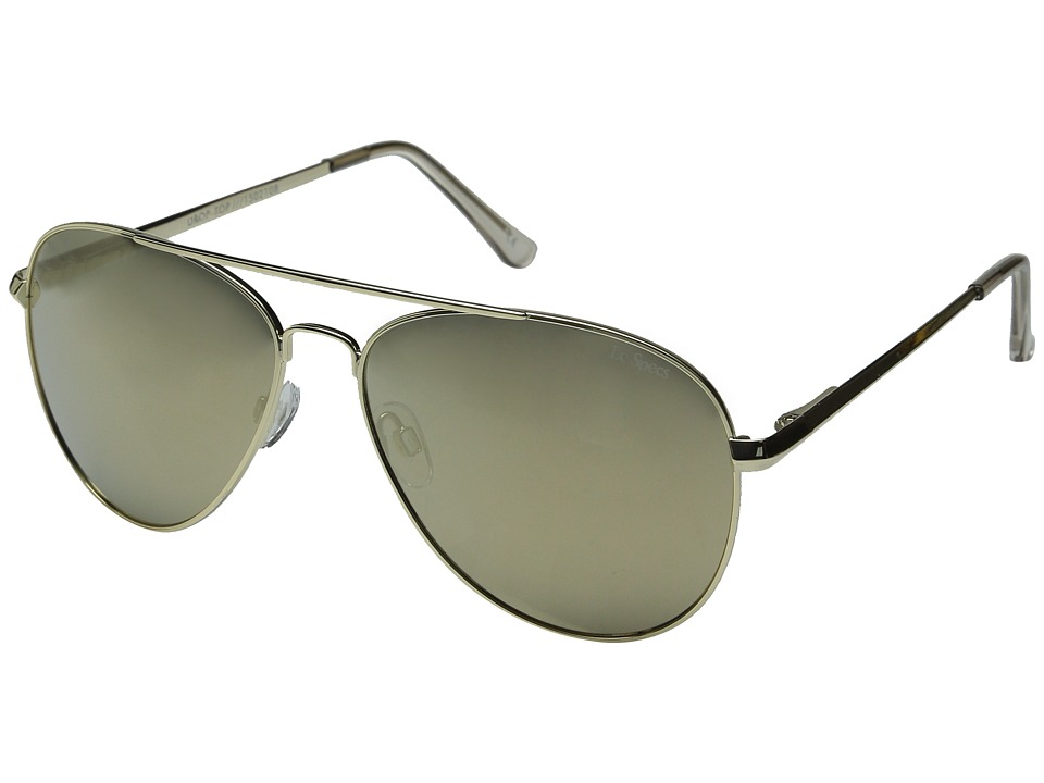 Le Specs - Drop Top (Gold/Gold Revo Mirror) Fashion Sunglasses