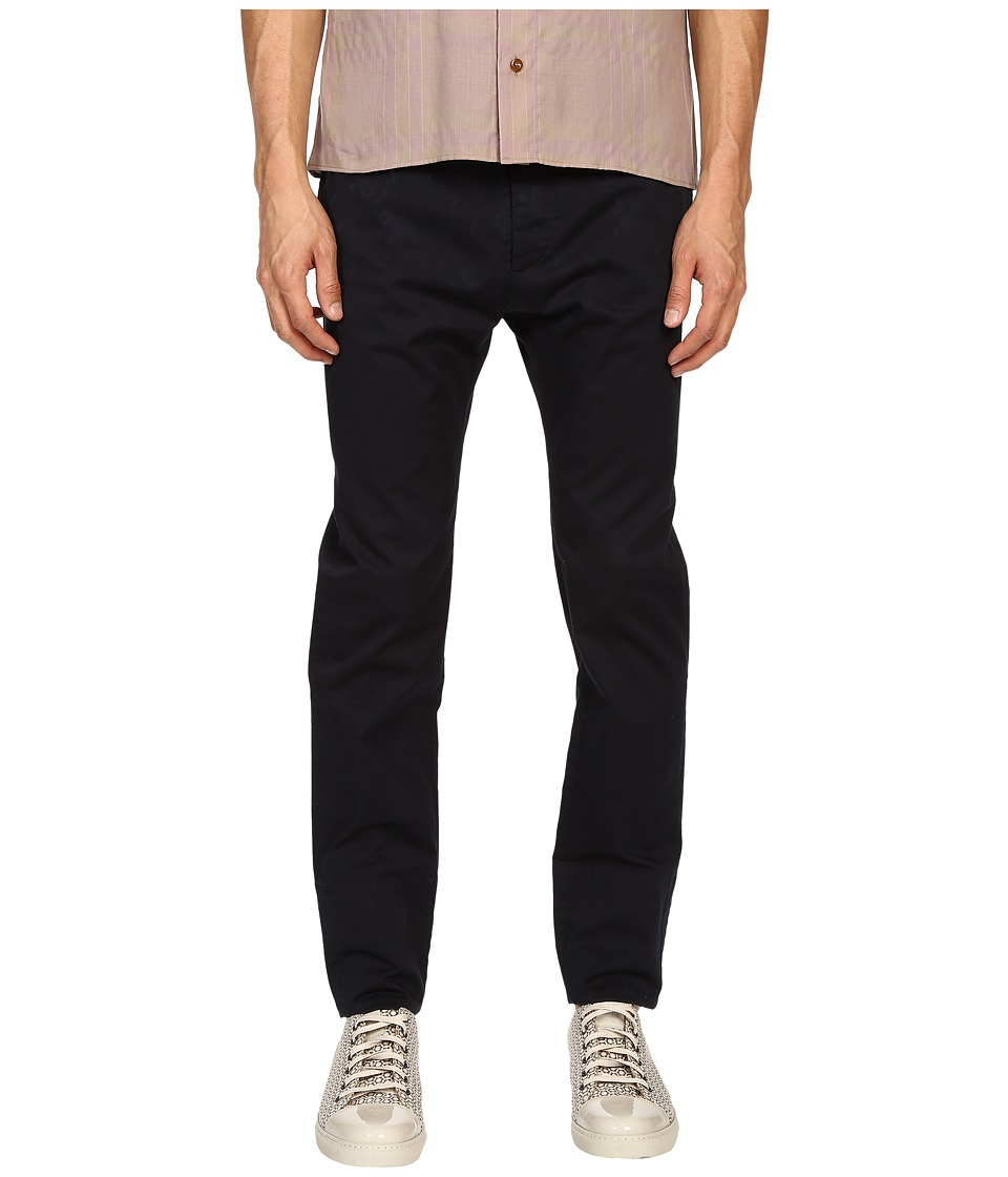 Vivienne Westwood - Stretch Cotton Drill Skinny Chino (Navy) Men's Casual Pants