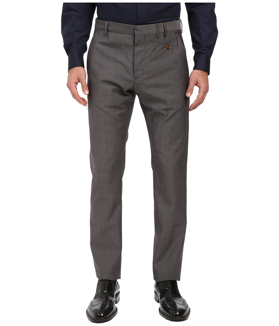Vivienne Westwood - Wool Suiting Classic Trousers (Grey Melange) Men's Casual Pants