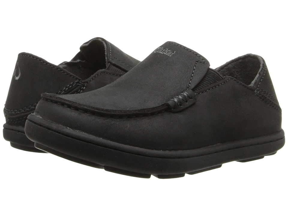 OluKai Kids - Moloa (Todder/Little Kid/Big Kid) (Black/Dark Shadow) Boys Shoes