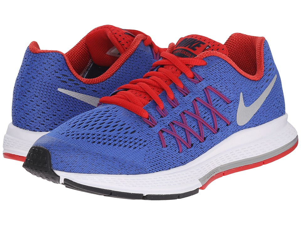 Nike Kids - Zoom Pegasus 32 (Big Kid) (Racer Blue/University Red/Obsidian/Metallic Silver) Boys Shoes
