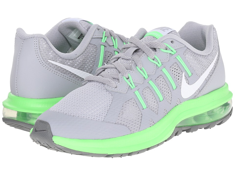 Nike Kids - Air Max Dynasty (Big Kid) (Wolf Grey/Voltage Green/Cool Grey/White) Boys Shoes