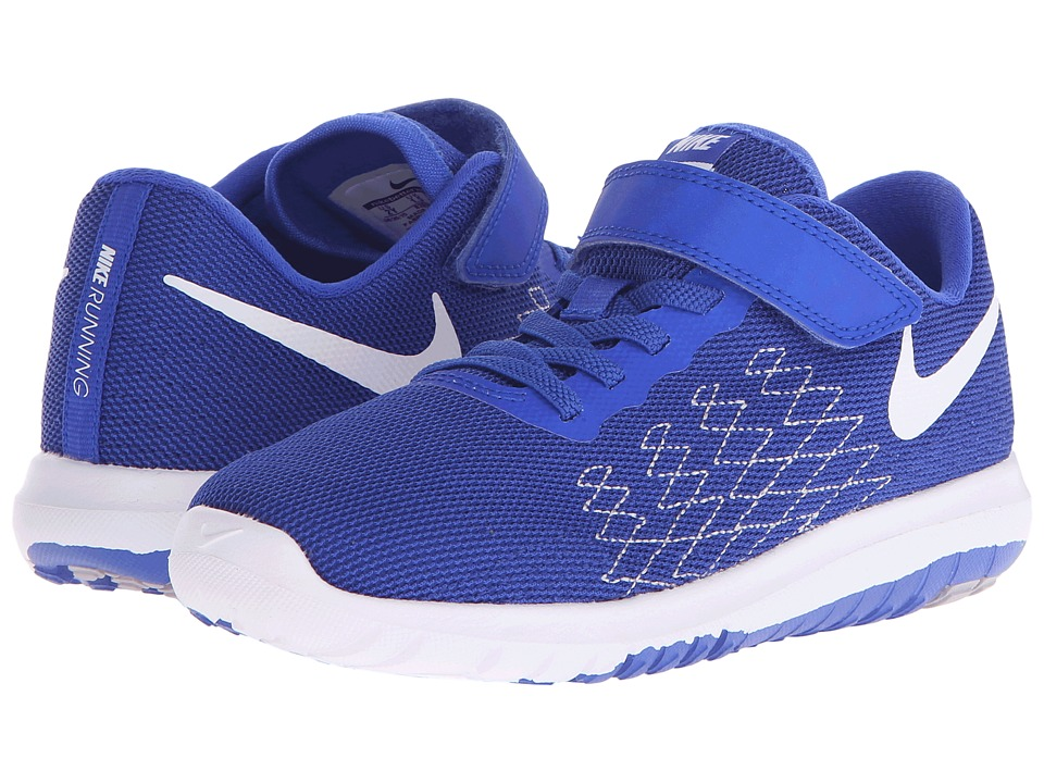 Nike Kids Flex Fury 2 (Little Kid) (Racer Blue/Wolf Grey/Deep Royal Blue/White) Boys Shoes