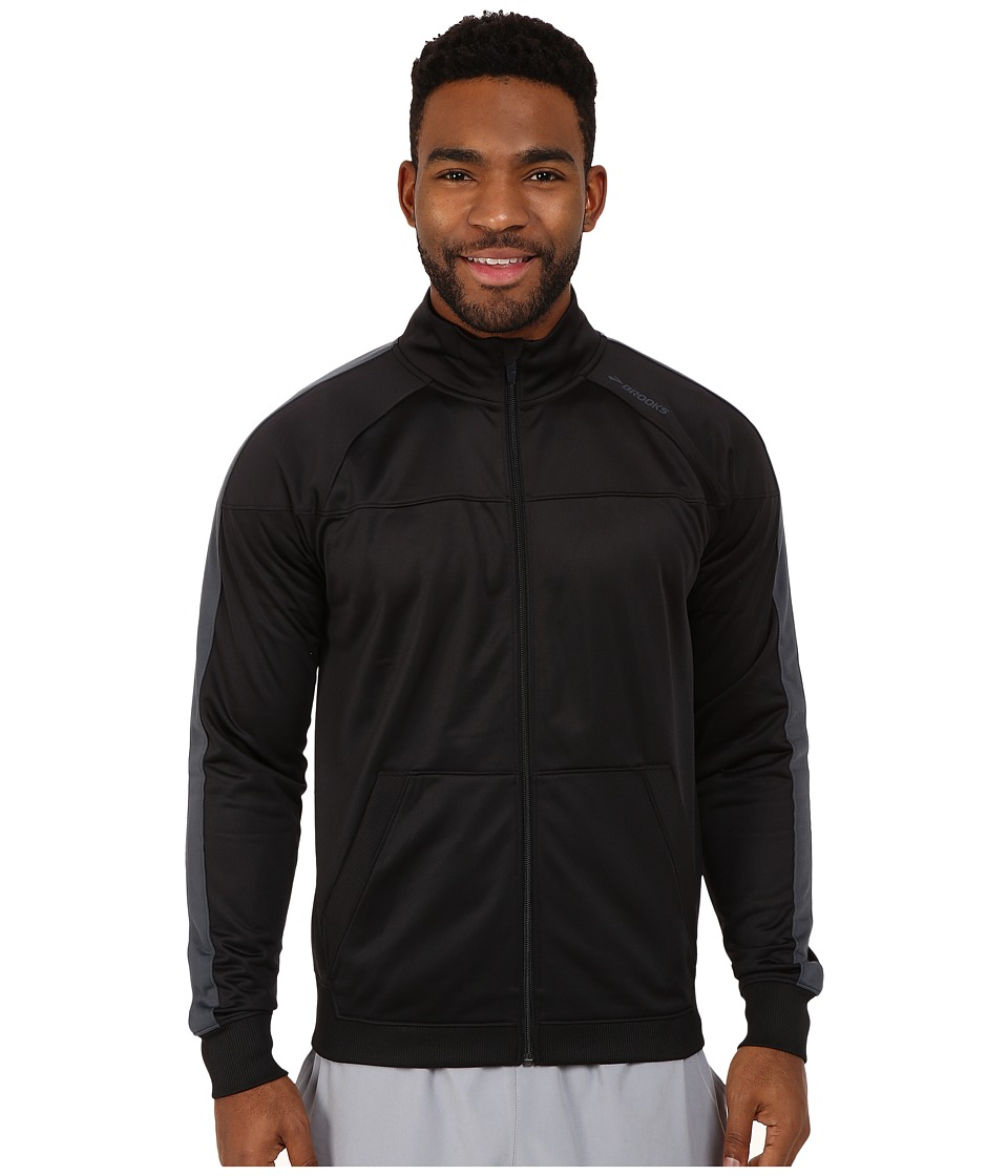 Brooks - Rally Jacket (Black/Asphalt) Men's Coat