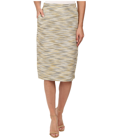 Anne Klein - Irregular Tweed Skirt (Goldenrod) Women