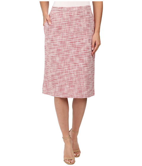 Anne Klein - Tweed Pocketed Skirt (Barn Red/White) Women