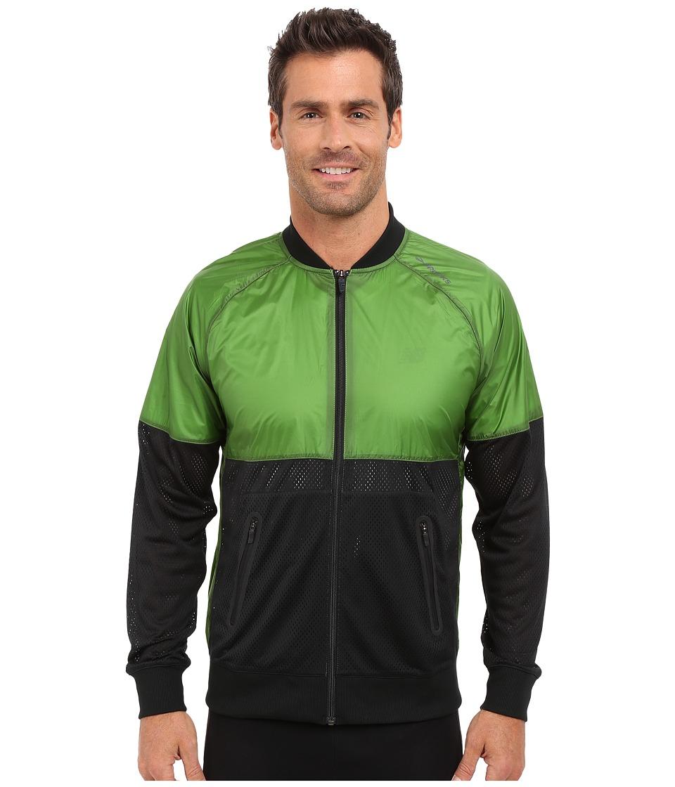 Brooks - Run-Thru Jacket (Black/Forest) Men's Coat