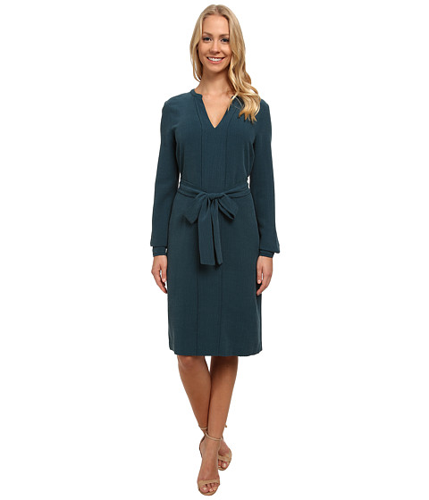Anne Klein - Vintage Seersucker Shift Dress (Mallard Green) Women's Dress