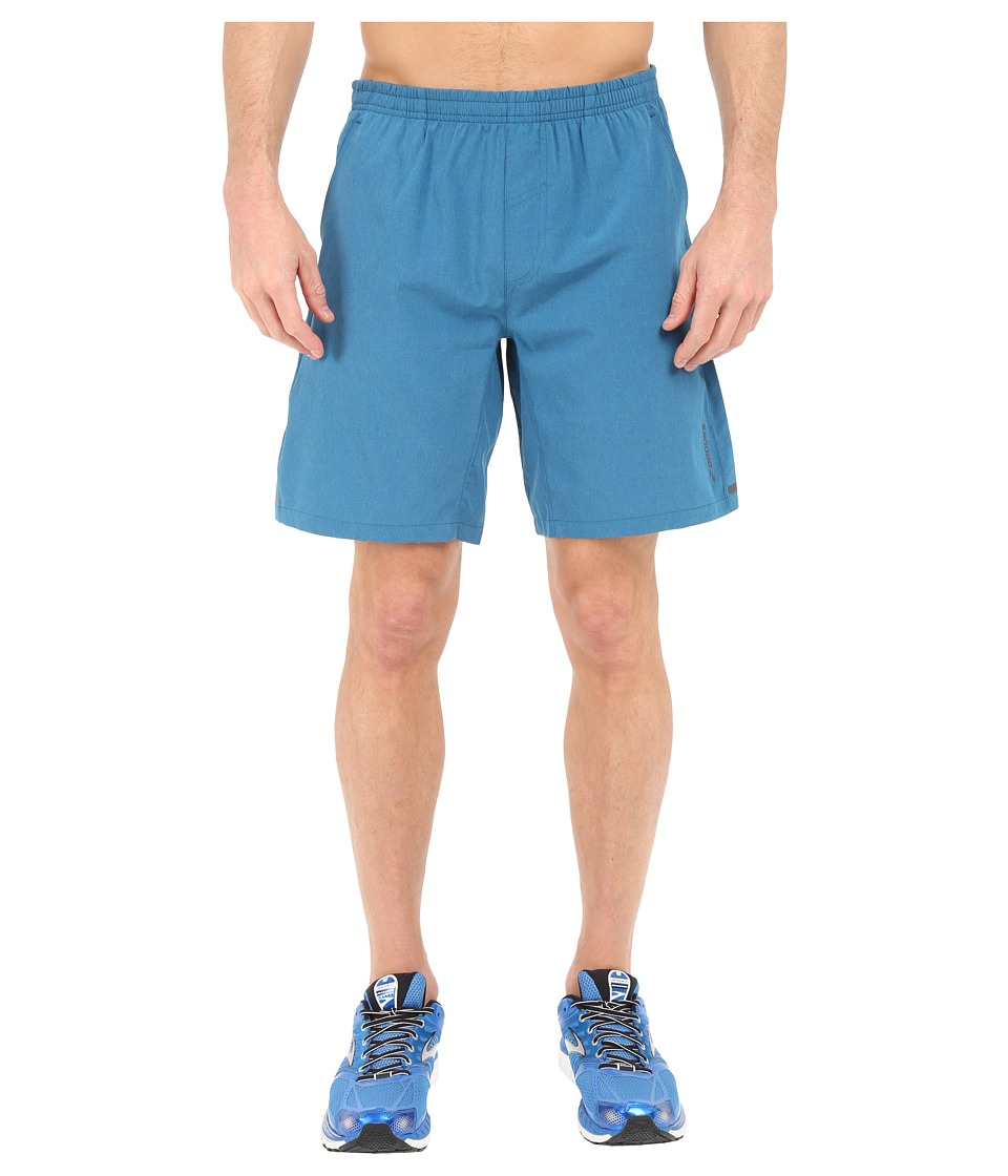 Brooks - Rush 9 Shorts (Heather River) Men's Shorts