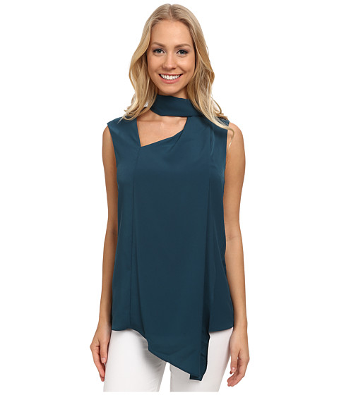 Anne Klein - Sleeveless Scarf Top (Mallard Green) Women's Sleeveless